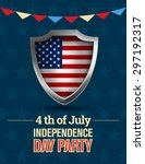fourth of july  american... | Shutterstock . vector #297192317