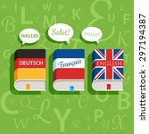 vector textbooks of english... | Shutterstock .eps vector #297194387