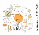 creative stylish idea concept... | Shutterstock .eps vector #297210023