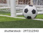 soccer ball on soccer field | Shutterstock . vector #297212543