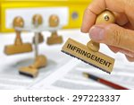 Small photo of infringement marked on rubber stamp
