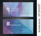 stylish business cards with... | Shutterstock .eps vector #297241397