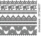 mehndi  indian henna tattoo... | Shutterstock .eps vector #297248357