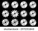 circular saw blade icons | Shutterstock .eps vector #297251843