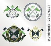 4 crest badge pattern for golf... | Shutterstock .eps vector #297276137