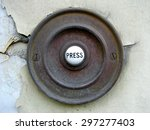 Vintage Doorbell On A Cracked...