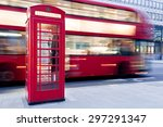 london  uk. red telephone booth ... | Shutterstock . vector #297291347