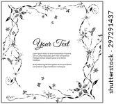 frame for text with elegant... | Shutterstock .eps vector #297291437