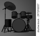 percussion instruments | Shutterstock .eps vector #297293057