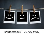happy  sad and neutral... | Shutterstock . vector #297295937
