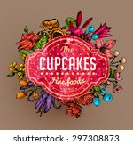 vintage vector card with... | Shutterstock .eps vector #297308873