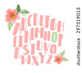 Hand Drawn Alphabet. Decorativ...