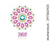 elegant gemstones vector... | Shutterstock .eps vector #297362423