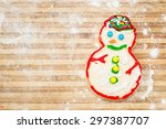home made and decorated...   Shutterstock . vector #297387707