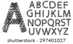 vector alphabet letters made... | Shutterstock .eps vector #297401027