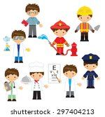profession vector illustration | Shutterstock .eps vector #297404213