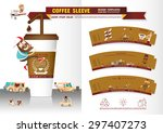 coffee sleeve design templates | Shutterstock .eps vector #297407273