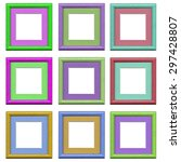 the set of  colorful frames... | Shutterstock . vector #297428807