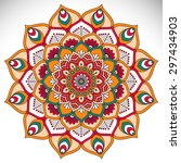 mandala. vintage decorative... | Shutterstock .eps vector #297434903