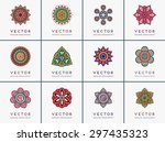 mandala. vintage decorative... | Shutterstock .eps vector #297435323