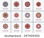 mandala. vintage decorative... | Shutterstock .eps vector #297435353