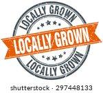 locally grown round orange... | Shutterstock .eps vector #297448133