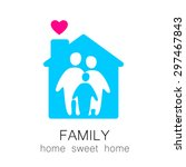 family and home concept.... | Shutterstock .eps vector #297467843