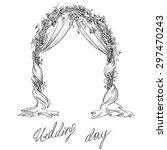 wedding arch. decoration.... | Shutterstock .eps vector #297470243