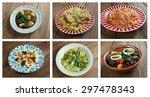 food set oriental cuisine... | Shutterstock . vector #297478343