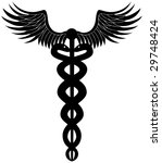 caduceus black | Shutterstock . vector #29748424