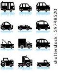 transportation set black | Shutterstock . vector #29748520