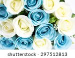 a bouquet of multicolored roses. | Shutterstock . vector #297512813