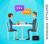 business people man and woman... | Shutterstock .eps vector #297521903