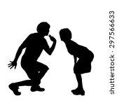 vector silhouette of a dancing... | Shutterstock .eps vector #297566633