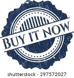 buy it now rubber seal | Shutterstock .eps vector #297572027