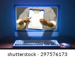 online survey questionnaire...   Shutterstock . vector #297576173
