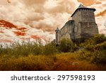 old castle on the sky background | Shutterstock . vector #297598193