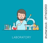 medicine background with nurse  ... | Shutterstock .eps vector #297602003