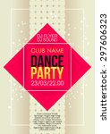 vertical music party background ... | Shutterstock .eps vector #297606323
