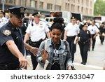 new york city   july 17 2015 ... | Shutterstock . vector #297633047