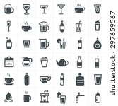drink icons set. | Shutterstock .eps vector #297659567