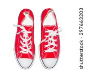 sneakers isolated on a white... | Shutterstock . vector #297663203