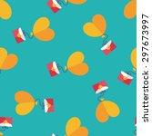 valentine's day love letter...   Shutterstock .eps vector #297673997