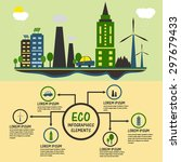 creative ecological infographic ... | Shutterstock .eps vector #297679433