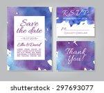 vector wedding invitation card...   Shutterstock .eps vector #297693077