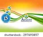 indian independence day... | Shutterstock .eps vector #297693857
