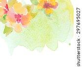 invitation card for wedding... | Shutterstock .eps vector #297695027