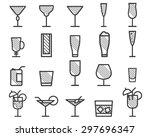 beverage  cocktail  drinks... | Shutterstock .eps vector #297696347