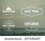 set of summer  winter explorer  ... | Shutterstock .eps vector #297696407