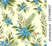 seamless pattern with beautiful ... | Shutterstock .eps vector #297698837